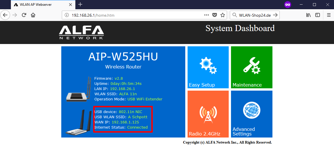 AIP-W525HU Konfiguration Schritt 9