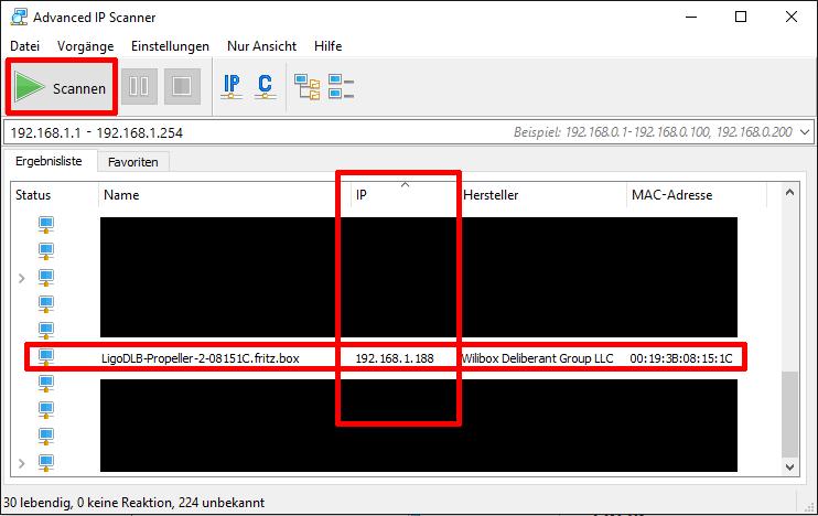 IP Adresse ermitteln - Schritt 1