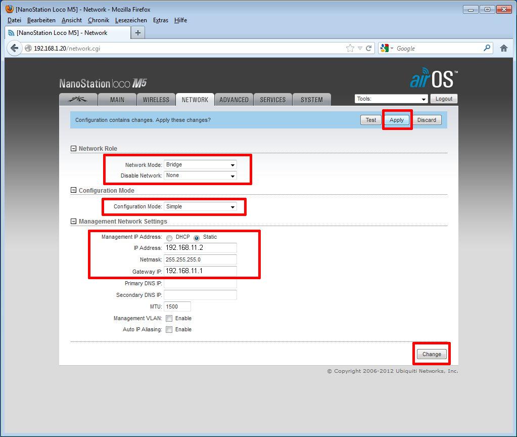 Ubiquiti PicoStation / Rocket als AccessPoint - Schritt 10