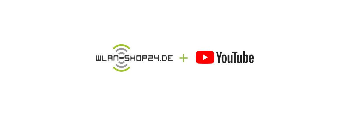 Youtube Kanal rund um das Thema WLAN & LTE   News & Unboxing - WLAN-Shop24.de   YouTube WLAN News & Tutorial - Unser Kanel rund um das Thema Unboxing, How-To\'s und speziellen News