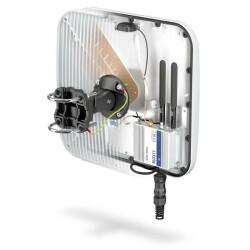 Halbtransparente Ansicht der Rückseite mit Einbaufach und Antennenelement