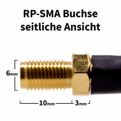 RP-SMA Buchse seitliche Ansicht