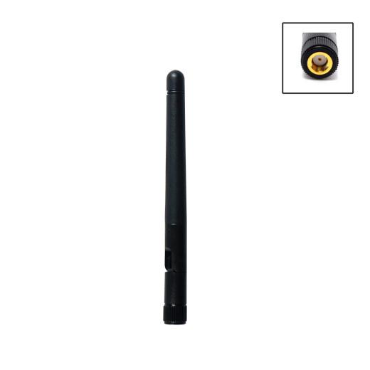 2.4 GHz WLAN Rundstrahlantenne | RP-SMA Stecker, Knickgelenk, 2dBi