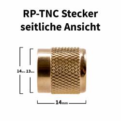 RP-TNC Stecker für H-155, RF-5, RF-240 Kabel
