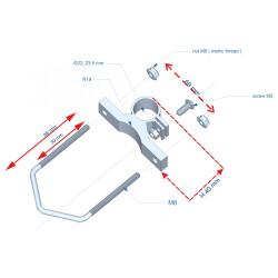 Konstruktionszeichnung der Mast-Halterung