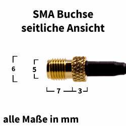 SMA Buchse - seitliche Ansicht