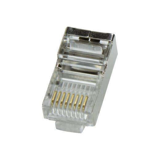 LogiLink MP0003 - 100 x RJ45 Stecker / Krimpstecker, CAT5e, geschirmt