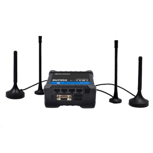 TELTONIKA RUT955 LTEIndustrie Router mit Dual SIM, WLAN Accessoint, OpenVPN, RMS, DynDNS