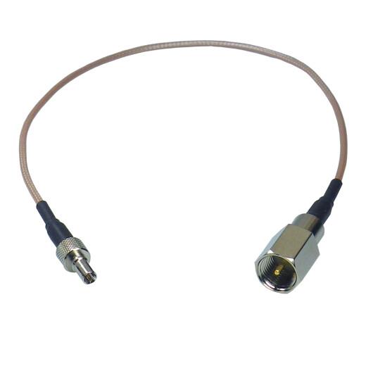 Koaxial Pigtail - RG-178, 25cm, FME Stecker auf CRC-9 Stecker