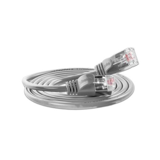 Justslim CAT.6 Netzwerkkabel / Patchkabel | SLIM LIGHT, STP, 2 x RJ45, Grau, 1.0m