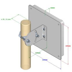 Technische Zeichnung der IP-G10-F2458-HV-M