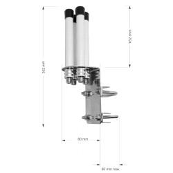 Interline HORIZON 4x4 MIMO WLAN Rundstrahlantenne für...