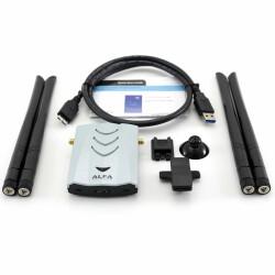 ALFA Network AWUS1900 - Lieferumfang mit Antennen, WLAN Adapter, USB Kabel etc.