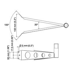 Technische Zeichnung des TravelConnector SMH1