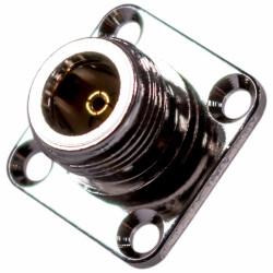 Koaxial Adapter N-Buchse mit vierloch Flansch
