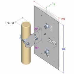 Interline IP-G1414-F2425-HV-M - 2.4 GHz 2x2 MIMO...