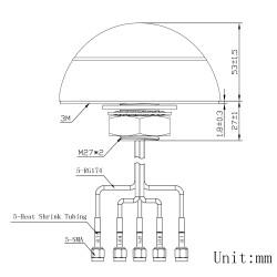 Technische Zeichnung der Multi-Antenne