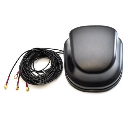LTE Multi WAN Fahrzeugntenne mit einem Leistungsgewinn von 3,5dbi multiband und wetterfest inklusive 1,5 meter Kabel mit SMA Steckern