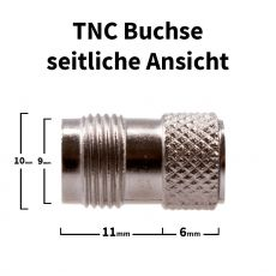 TNC Buchse / Krimp-Buchse für H-155, RF-5, RF-240 Kabel