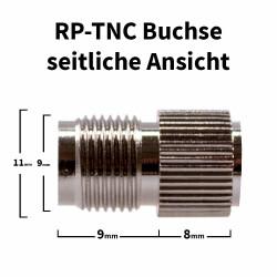 RP-TNC Buchse für H-155, RF-5, RF-240 Kabel