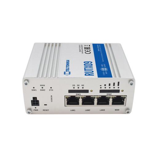 TELTONIKA RUTX09 CAT.6 LTE Industrie Router  mit Alu Gehäuse, Dual SIM und Gigabit Ethernet Anschlüssen