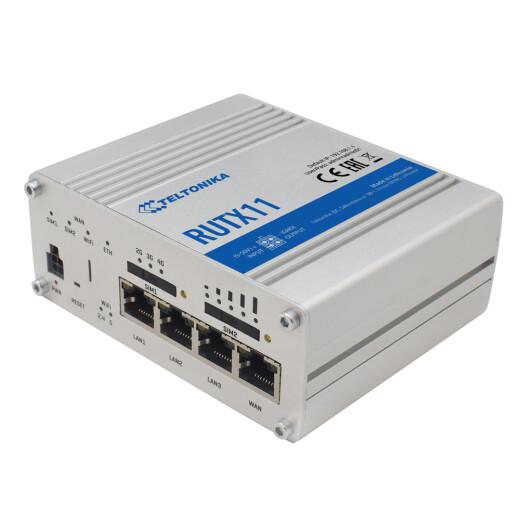 TELTONIKA RUTX11 LTE Router Dual Sim, Alu Gehäuse, 802.11ac WLAN AP, Gigabit Ethernet, GPS und Bluetooth Funktion