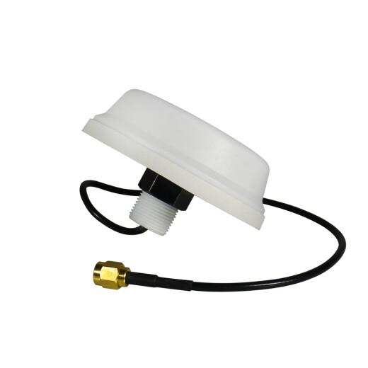 5dBi 2.4 GHz WLAN Rundstrahlantenne zur Deckenmontage mit weißem Gehäuse, 0.3m Kabel und RP-SMA Stecker