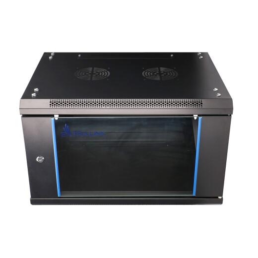 Extralink Geräteschrank - 19 Zoll, 600 x 600mm mit 6HE und Glastür