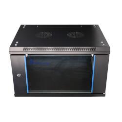 Extralink Geräteschrank - 19 Zoll, 600 x 600mm mit 9HE und Glastür