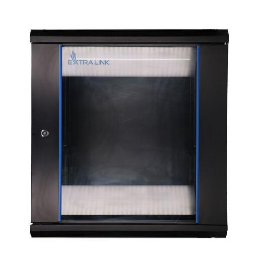 Extralink Geräteschrank - 19 Zoll, 600 x 450mm mit 12HE und Glastür