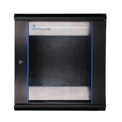 Extralink Geräteschrank - 19 Zoll, 600 x 600mm mit 12HE und Glastür