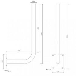 Wandhalterung / Antennenhalterung mit Winkel, verzinkt,...