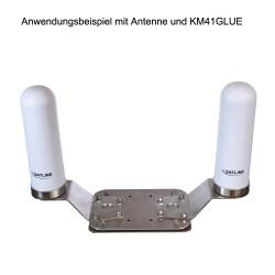 Anwendungsbeispiel mit Antenne und KM41GLUE