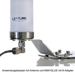 Anwendungsbeispiel mit Antenne und KM41GLUE mit N Adapter