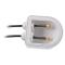 Beispielansicht der Unterseite mit zwei durchgeführten Koax-Kabeln