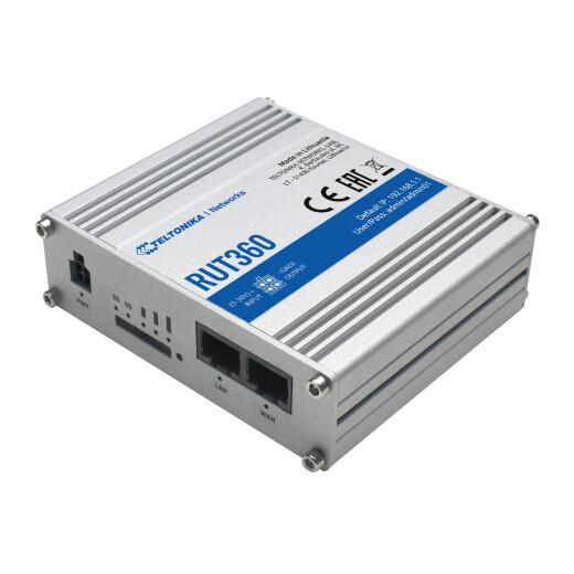 TELTONIKA RUT350 LTE Router mit SIM-Karten Slot 2.4 GHz WLAN Accesspoint, Cat6, OpenVPN, DynDNS