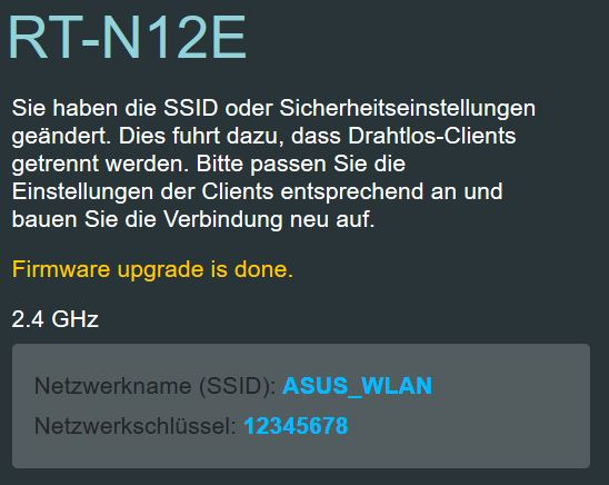 ASUS RT-N12E als Access Point - Schritt 9